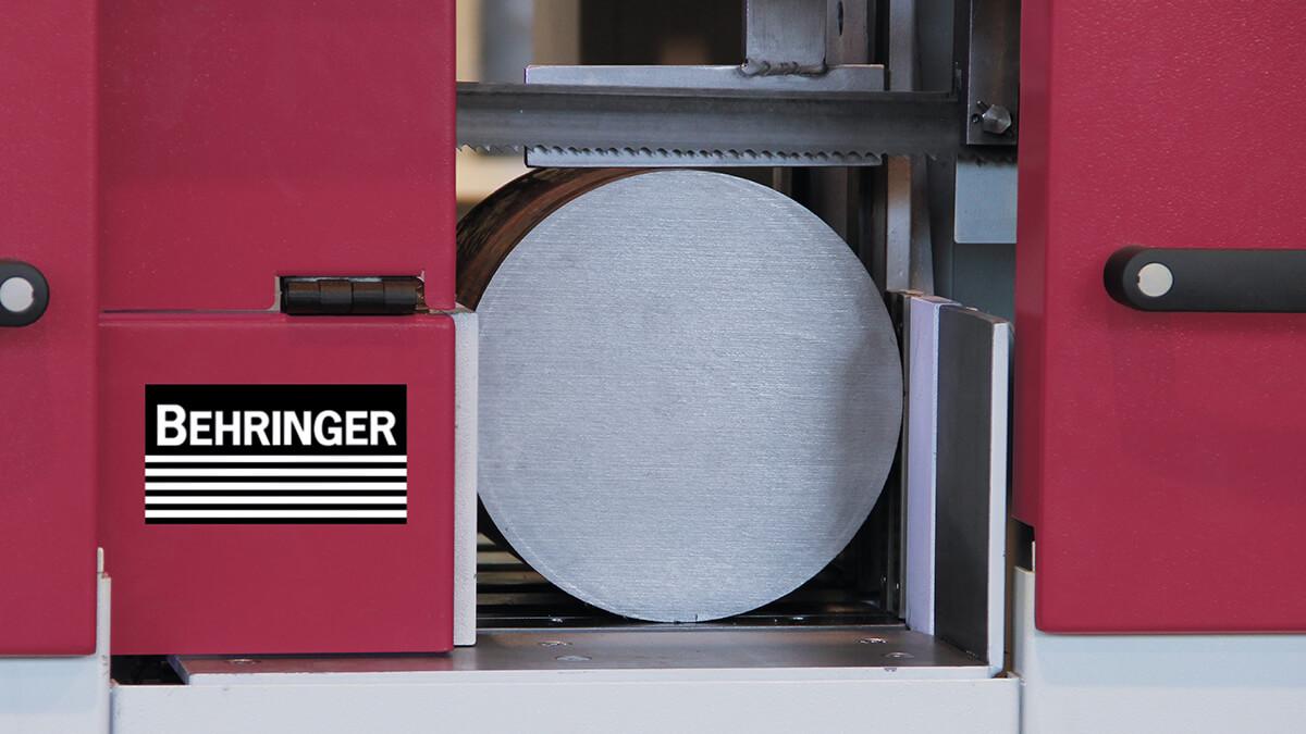 Behringer Bandsägeautomat HBE261A Dynamic bandführende Teile aus schwingungsdämpfendem Grauguss