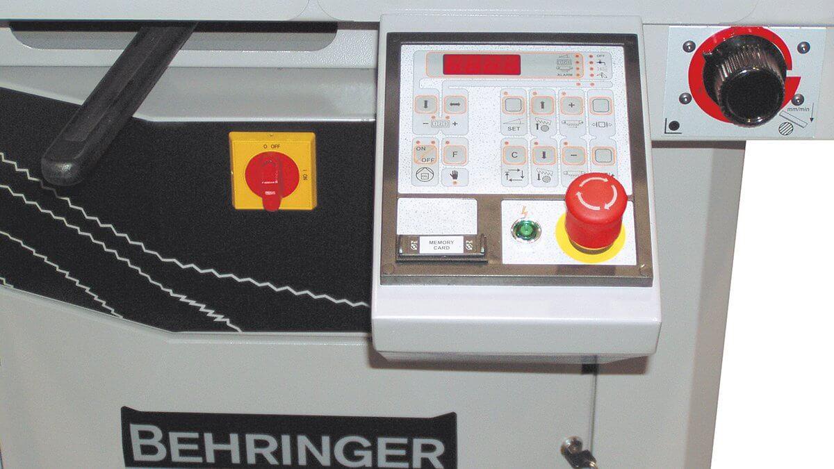 Behringer Metallbandsäge SLB230DG-HA Bedienpult