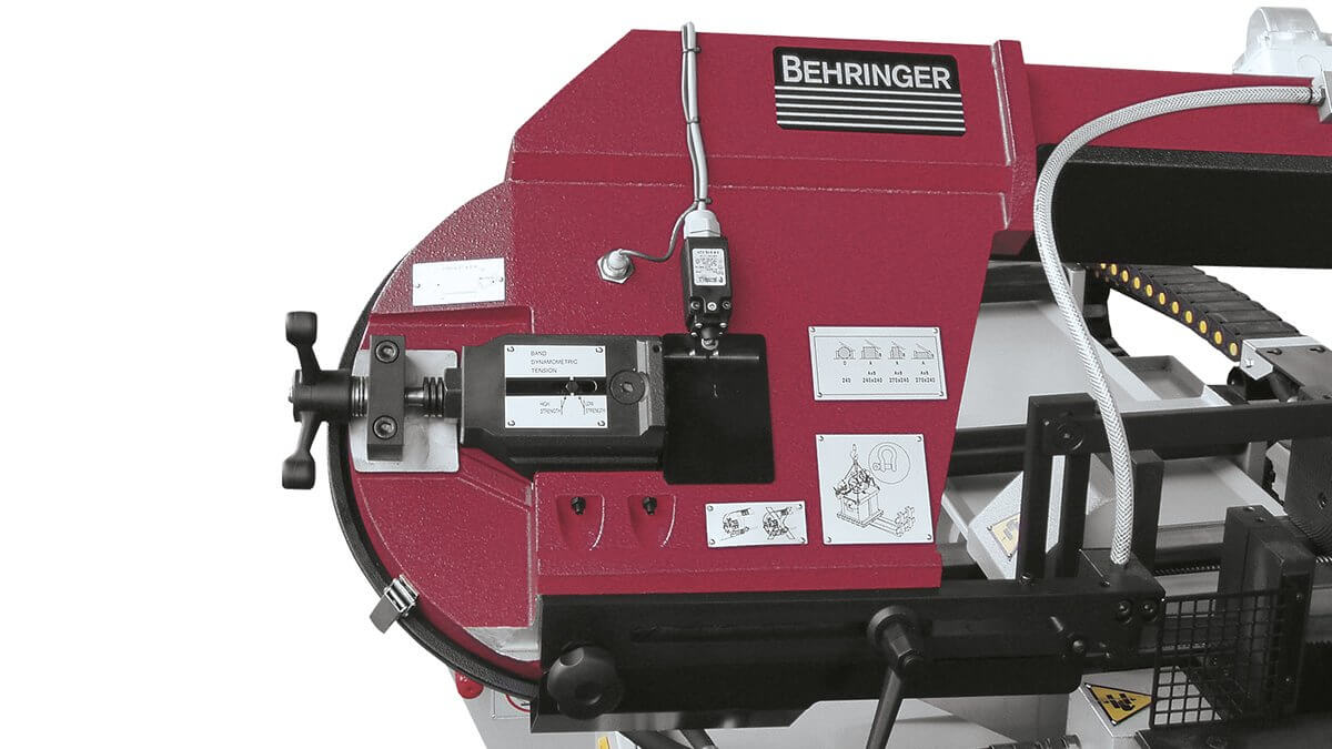 Behringer Metallbandsäge SLB240A Bandspannung mit automatischer Abschaltung bei Bandbruch