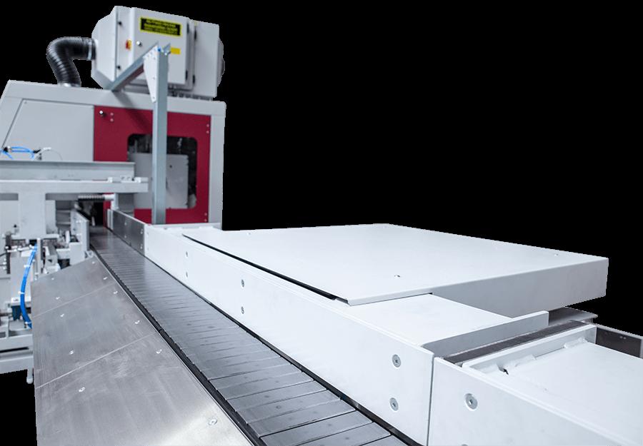 Behringer Eisele HCS Metallkreissägeautomat Gliederbandförderer mit Abschiebeinheiten