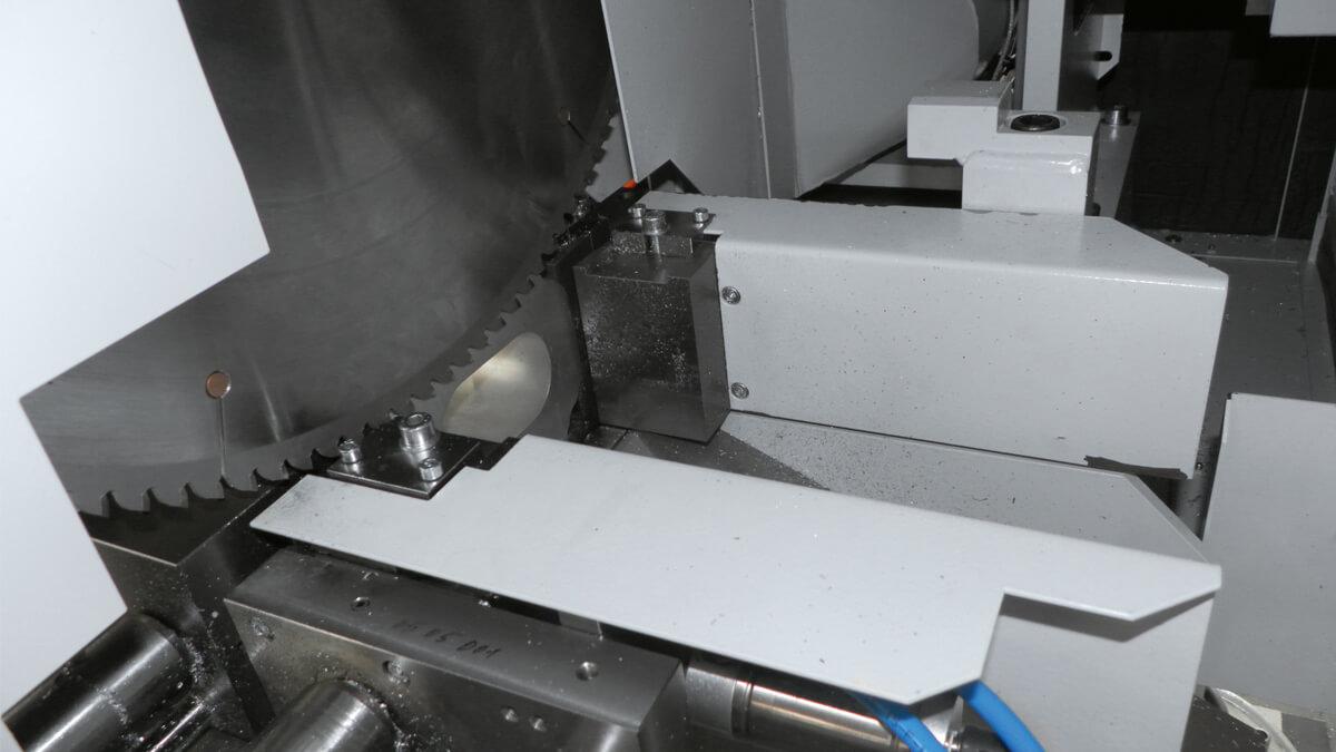 Behringer Eisele Aluminiumsäge VA-L Schnittspalterweiterung ermöglicht kratzfreie Schnittoberflächen