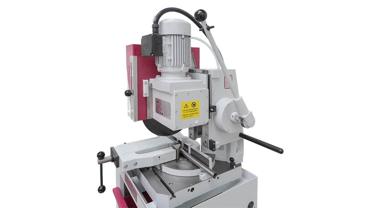 Behringer Eisele Vertikal-Metallkreissäge VMS 350 Schneckengetriebe mit Rotationsausgleich aus eigener Herstellung
