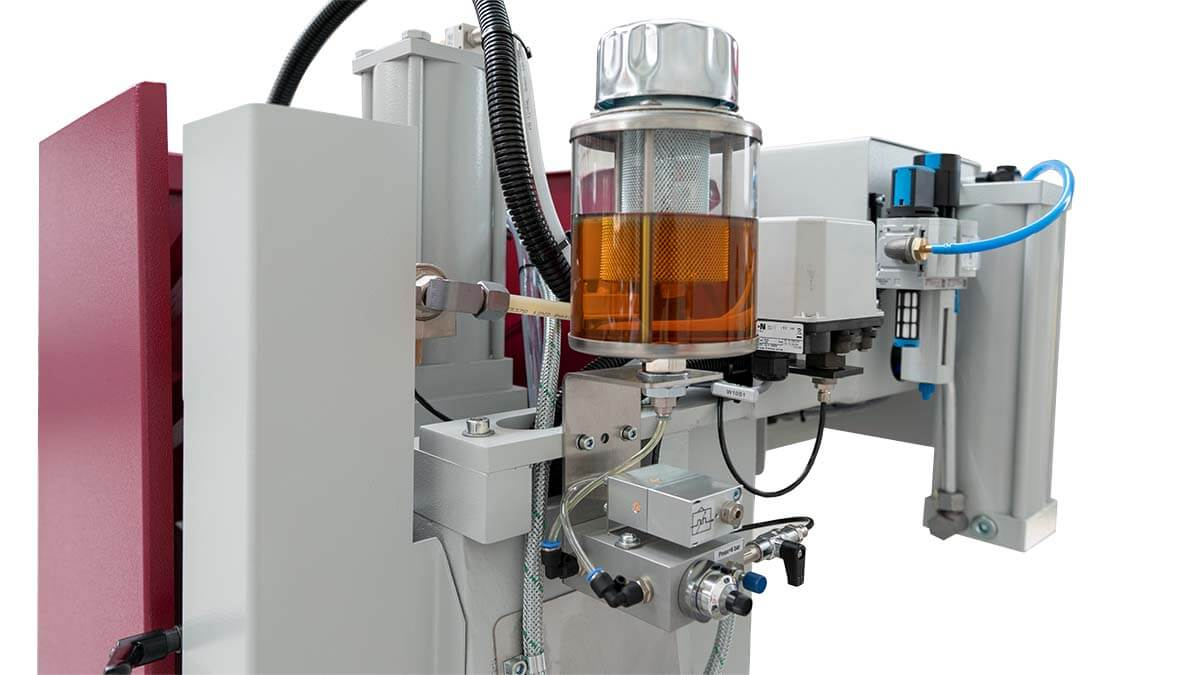 Behringer Eisele Vertikal-Metallkreissäge VMS 350 PV Micro-Sprühsystem